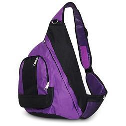 Everest Sling Bag Color: Purple / Black