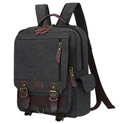 S-ZONE Sling Canvas Cross Body 13-inch Laptop Messenger Bag