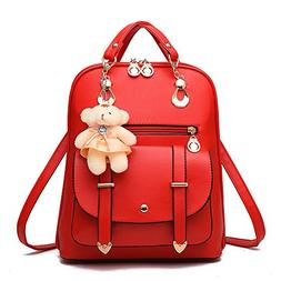 Soft Leather Backpack Lovely Schoolbag Shoulder Bag Sports K