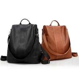 Soft Leather Tote Casual Backpack Anti Theft Lady Daypack St
