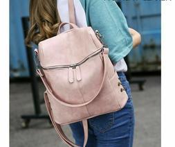 Solid Backpacks Women's Handbags Shoulder Strap Rivet Design