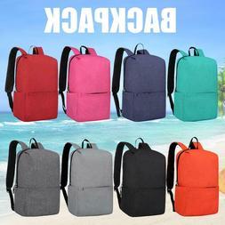 Solid Color Backpacks Oxford Cloth Big Waterproof Outdoor Sp