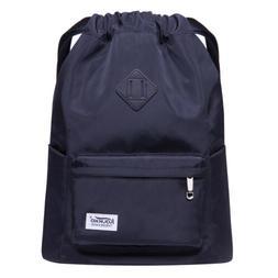 KAUKKO Solid Color Drawstring Backpacks Multi-purpose bag Sc