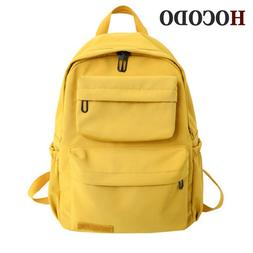 HOCODO Solid Color <font><b>Backpack</b></font> For Women 20