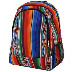 Southwest Serape Print Large Backpack School Bag Backpack Sh