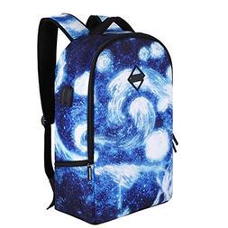 SHUB Space Men Laptop Bag Man Usb Charging Backpack School F