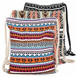 Sport String Drawstring Backpack Cinch Sack Gym Sports Pack