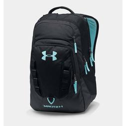 Under Armour Storm Recruit Backpack, Black/Blue Infinity, On