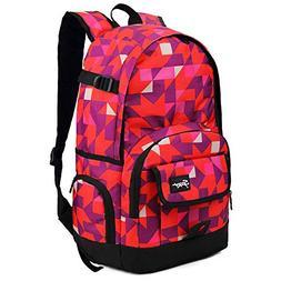 Ricky-H Stylish Pattern College Bookbag for Women & Men Mult