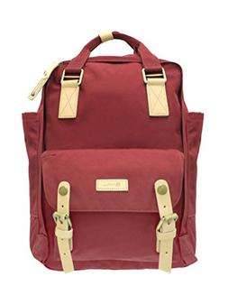 Stylish solid color backpack, men and women, laptop, backpac