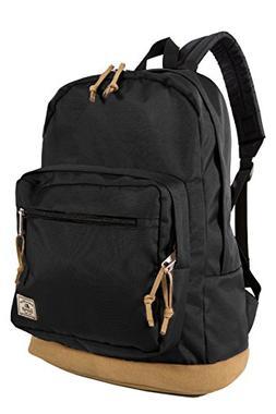 Everest Suede Bottom Daypack with Laptop Pocket Backpack, Bl