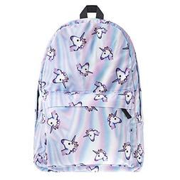 Summer style 3d unicorn printing backpack for school Teenage