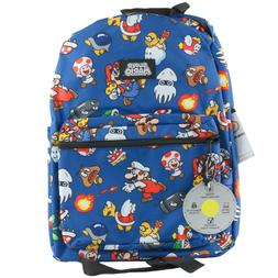 Nintendo Super Mario Print Backpack School Book Bag Boys Kid