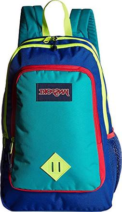JanSport Super Sneak Backpack - Regal Blue/Neon Yellow