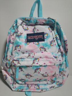 Jansport Superbreak Backpack Unicorn Clouds School Bag Back