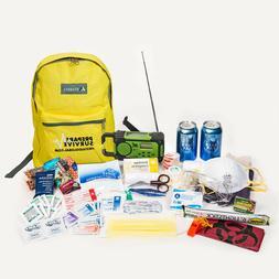 Survival Backpack for Disaster Preparedness With Solar/Dynam