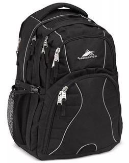 "High Sierra Swerve Backpack - Black Padded 17"" Laptop School"