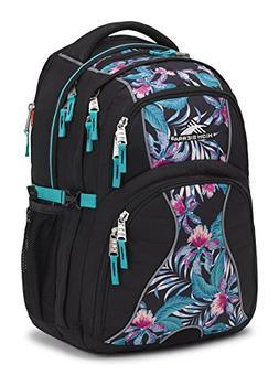 High Sierra Swerve Laptop Backpack, Black/Tropic Nights/Turq