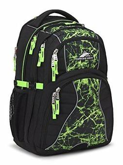 High Sierra Swerve Laptop Backpack, Black/Lime Fire/Lime FRE