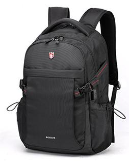 """Swiss Ruigor 6424 Water Resistant Backpack Fit For 15.6"""" Lap"""