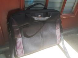 Swiss Gear Laptop Bag, No Tags, 16x12 Black With Purple Cham
