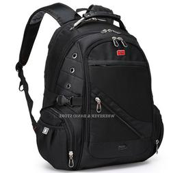 "Swiss Gear Men 17"" 15"" Laptop Backpack Outdoor Bag Swiss Sty"