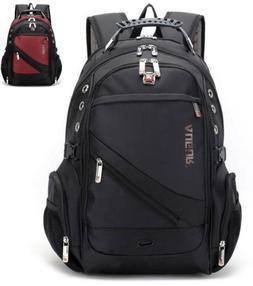 Swiss Men School Backpack 15.6 Laptop Rucksack Bag Travel No