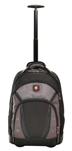 """Wenger Synergy Wheeled 16"""" Laptop Backpack Black/Grey 602876"""