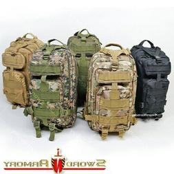 Tactical Backpack Army Assault DayPack Hiking Trekking Campi