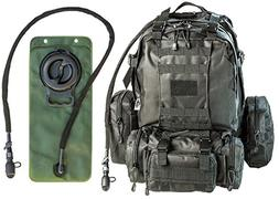 Monkey Paks Tactical Military Backpack Bundle with 2.5L Hydr
