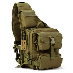 2bce1b984bd3 Tactical Military Sling Chest Pack Bag Molle Daypack Laptop