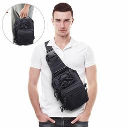 Tactical Molle Sling Shoulder Bag Assault Backpack Crossbody