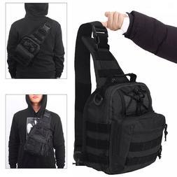 Tactical Shoulder Bag Messenger Sling Chest Pack Military Mo