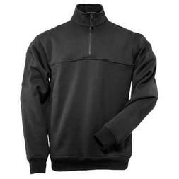 5.11 Tactical Job Shirt 1/4 Zip,Black,Large