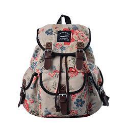 Epokris Teen Girls School Bookbag Rucksack Casual Daypack Fl