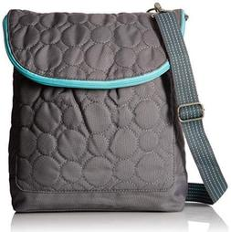 Thirty One Vary You Backpack Purse Quilted Dots Grey