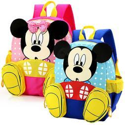 Toddler Kids Girls Cartoon Mickey Mouse Backpack Rucksack Sc