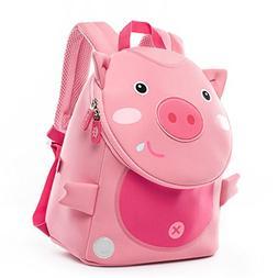 Cocomilo Toddler Pig Backpack Waterproof Kids School Bag Cut