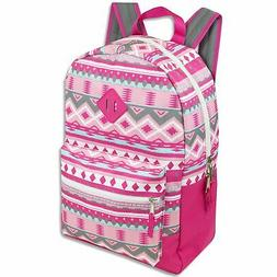 Trailmaker Girls' All Over Printed Girls Backpack 17 Inch Wi