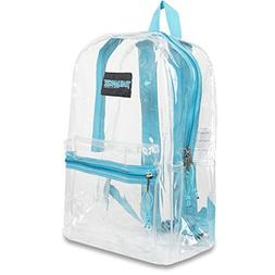 Trailmaker Girls Aqua Padded Straps Classic Clear Backpack 1