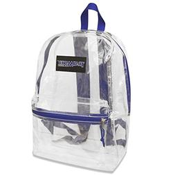 Trailmaker Girls Blue Padded Straps Classic Clear Backpack 1