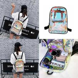TRANSPARENT Backpack Casual Student School Daypack Travel Ca