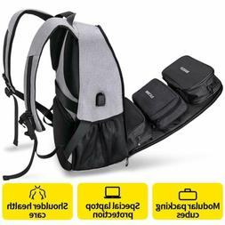 Travel Laptop Backpack for Men and Women USB Charging Port F