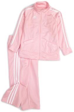 adidas Toddler Girls' Tricot Zip Jacket and Pant Set, Light