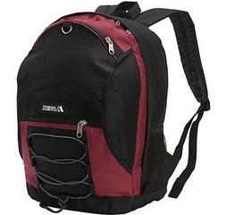 EVEREST TWO-TONE BACKPACK SCHOOL BAG LUGGAGE - BURGUNDY / BL