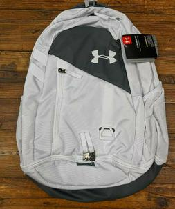 ua hustle 4 0 backpack white gray