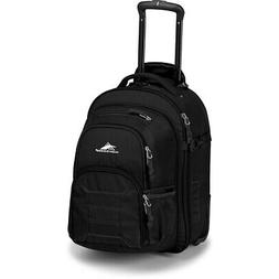 High Sierra Ultimate Access Wheeled Carry-On Backpack, Black