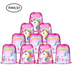 Unicorn Bags for Unicorn Party Supplies ,Konsait Unicorn Dra