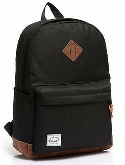 Vaschy Unisex Classic Water Resistant School Backpack Fits 1