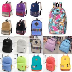 Unisex Mens Canvas School Backpack Travel Camping Rucksack S